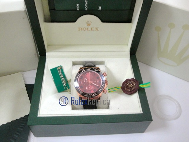 rolex replica daytona chocolate rose gold pelle orologio replica copia imitazione