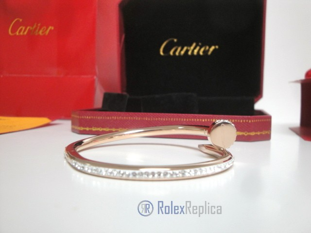 Cartier replica gioiello bracciale juste un clou rose gold pavè diamond