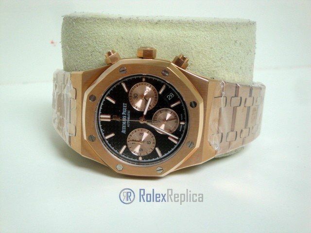 audemars piguet replica chrono royal oak leo messi rose gold black dial imitazione copia