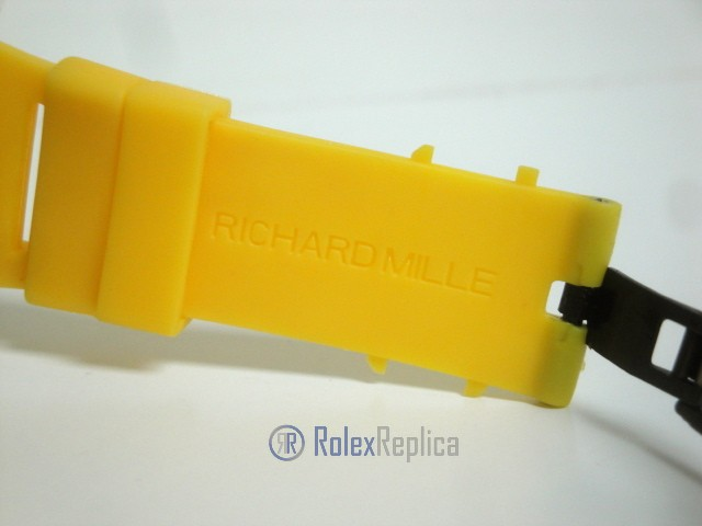 richard mille replica RM61-01 baby blake skeletron yellow limited edition strip rubber-b