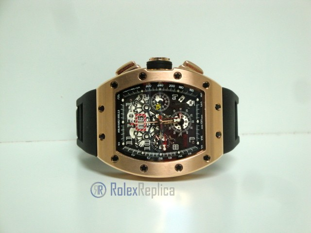 richard mille replica RM011 Felipe Massa rose gold limited edition strip rubber-b