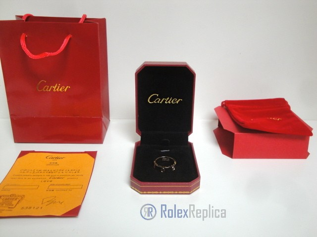 Cartier replica gioiello anello love rose gold