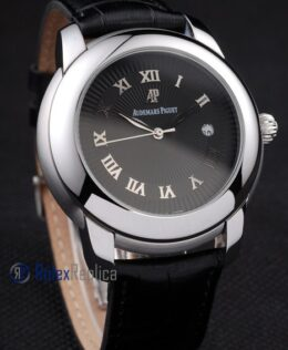 audemars piguet replica black dial strip leather imitazione copia