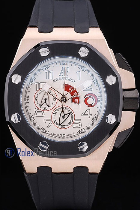 audemars piguet replica chrono offshore alinghi team white strip rubber imitazione copia