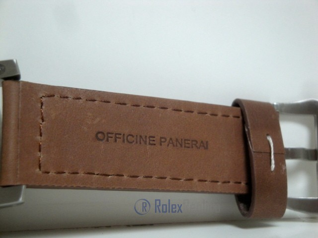 Panerai replica luminor marina submersible depth gauge acciaio strip leather imitazione copia