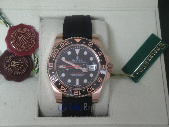 rolex replica GMT master II ceramica rose gold strip rubber orologio replica