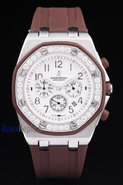 audemars piguet replica chrono offshore acciaio alinghi team lady strip rubber imitazione copia