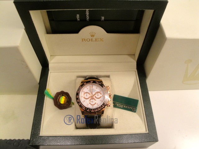 rolex replica daytona chocolate rose gold white dial pelle orologio replica copia imitazione
