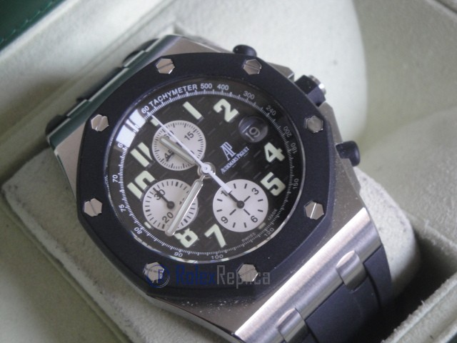 audemars piguet replica chrono offshore gommino strip rubber black dial imitazione copia
