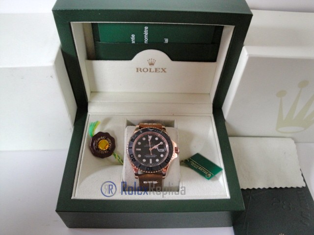 rolex replica yacht master I rose gold strip leather orologio replica