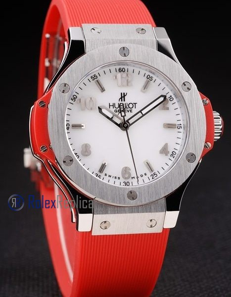 hublot replica big bang titanium white dial orange orologio copia