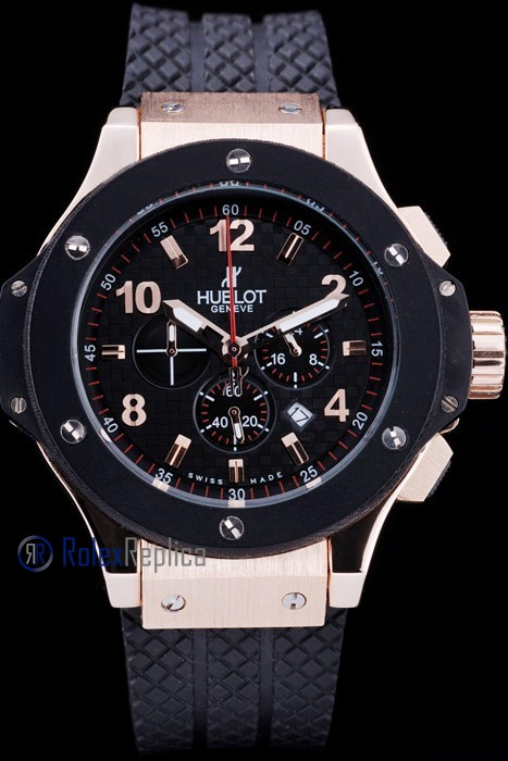 hublot replica big bang rose gold black dial orologio copia