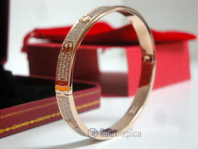 Cartier replica gioiello bracciale love rose gold pavè diamond