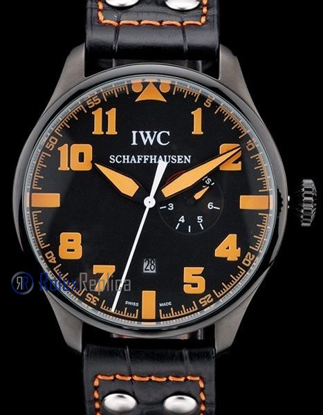 iwc replica 8 days power reserve orange pro-hunter strip leather orologio imitazione