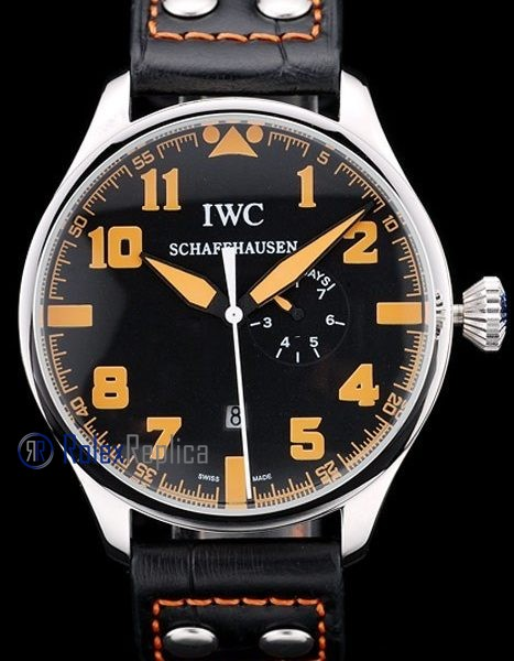 iwc replica 8 days power reserve orange strip leather orologio imitazione