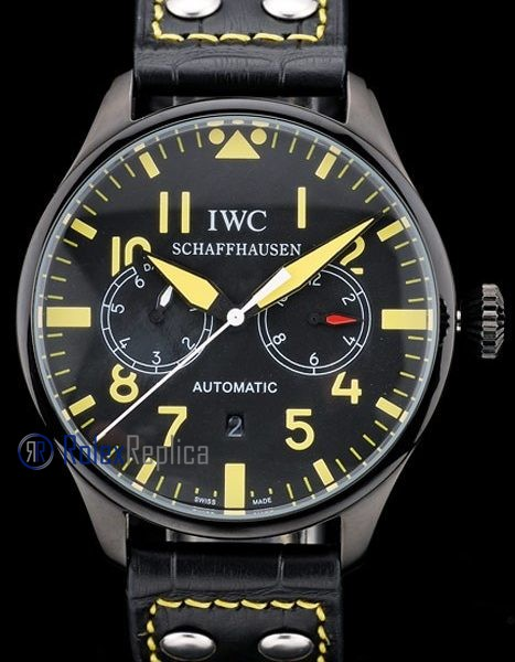 iwc replica 8 days power reserve yellow ll pro-hunter strip leather orologio imitazione