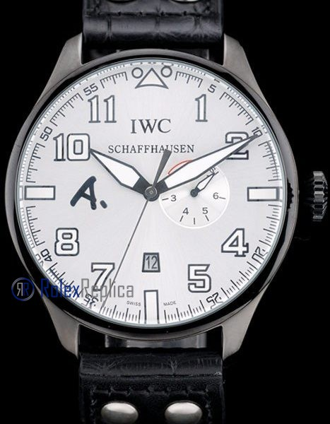 iwc replica 8 days power reserve white dial strip leather orologio imitazione