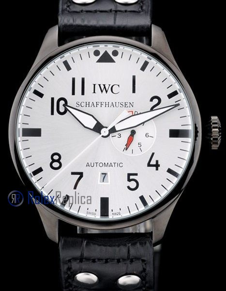 iwc replica 8 days power reserve acciaio white dial strip leather orologio imitazione