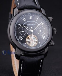 audemars piguet replica chrono ceramichon black strip leather imitazione copia