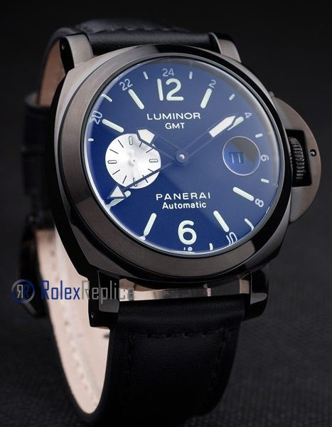 Panerai replica luminor GMT pro-hunter pvd strip leather imitazione copia