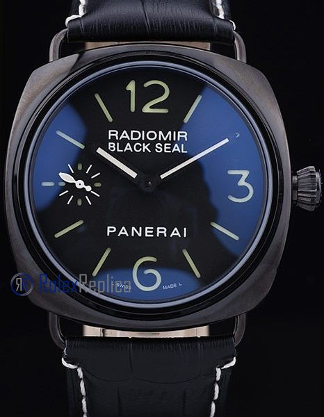 Panerai replica radiomir black seal pro-hunter pvd strip leather imitazione copia