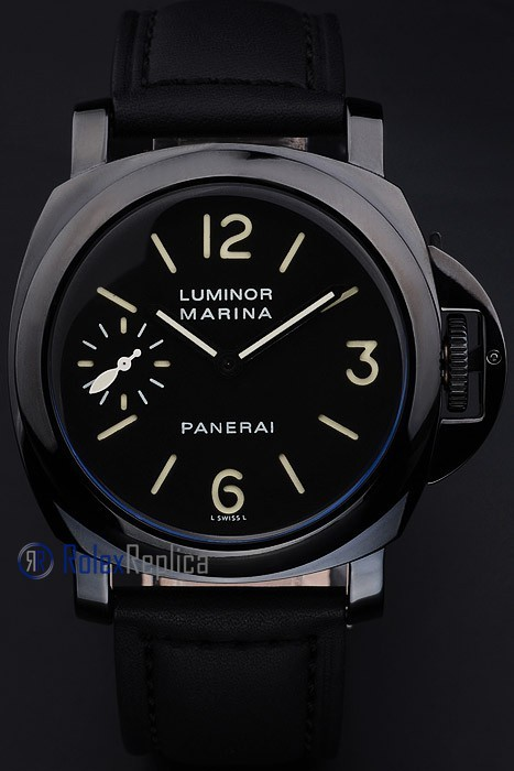 Panerai replica luminor marina pro-hunter pvd strip leather imitazione copia