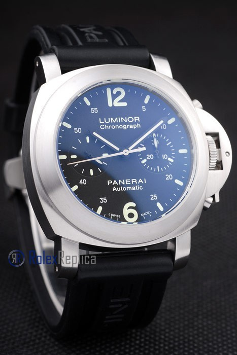 Panerai replica luminor chronograph acciaio strip rubber imitazione copia