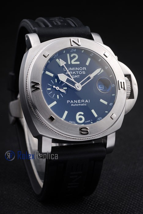 Panerai replica luminor GMT arktos acciaio strip rubber imitazione copia