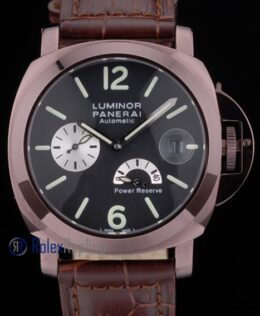 Panerai replica luminor power reserve pro-hunter pvd brown strip leather imitazione copia