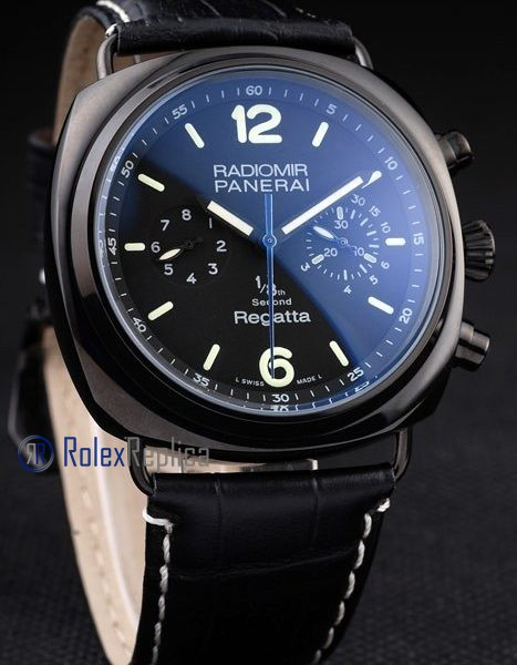 Panerai replica radiomir regatta pro-hunter pvd strip leather imitazione copia