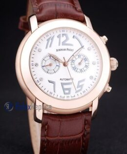 audemars piguet replica chrono tourbillon rose gold white strip leather imitazione copia