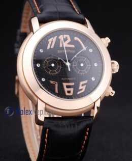audemars piguet replica chrono tourbillon rose gold black strip leather imitazione copia