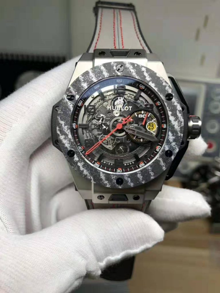 REPLICA HUBLOT BIG BANG FERRARI TITANIUM CARBON BEZEL WITH CLONE MOVEMENT