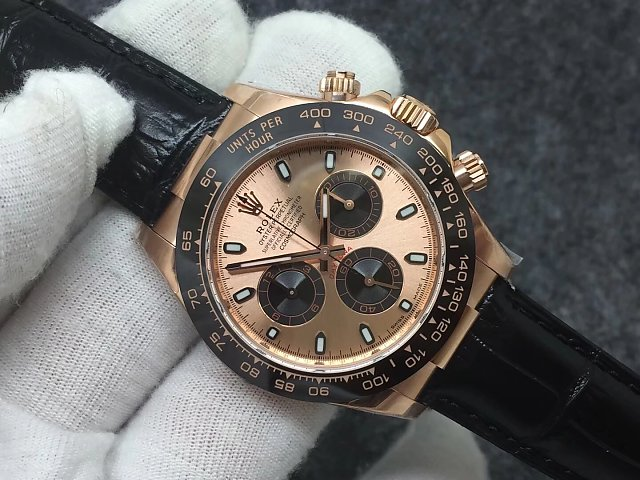 REPLICA ROLEX DAYTONA 116515 ROSE GOLD WATCH WITH SUPER CLONE 4130 MOVEMENT