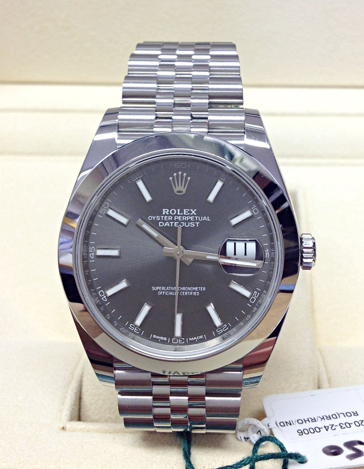 Rolex replica Datejust 41 126300 Rhodium Dial clone movement