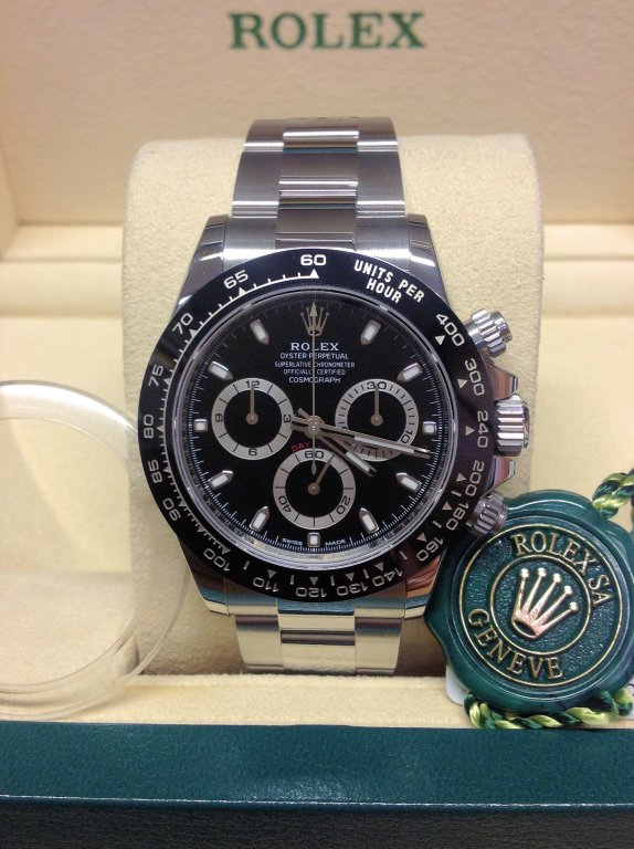 ROLEX REPLICA DAYTONA 116500 BLACK DIAL CLONE MOVEMENT 4130