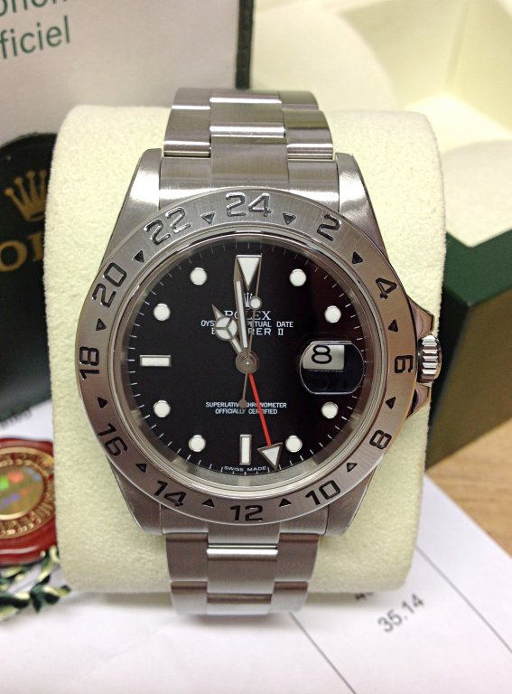 Rolex replica explorer II classic 16570 40mm Black Dial
