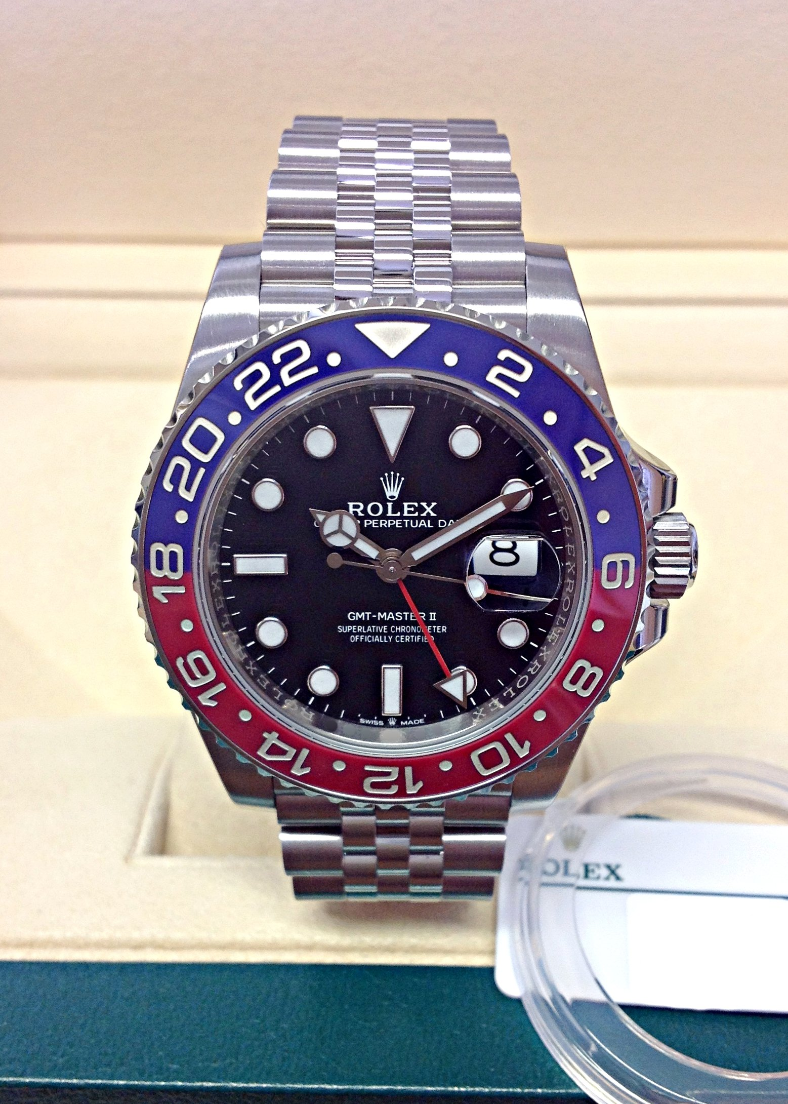 Rolex replica GMT Master II 126710BLRO Pepsi 3285 clone movement