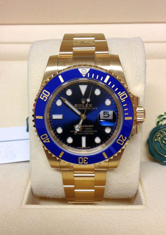 rolex replica submariner 116618LB blue dial orologio replica copia imitazione