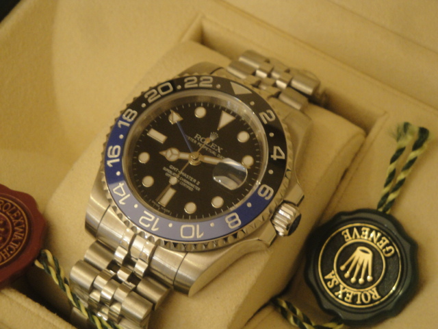 "Rolex replica GMT-Master II ""Batman"" 126710BLNR"