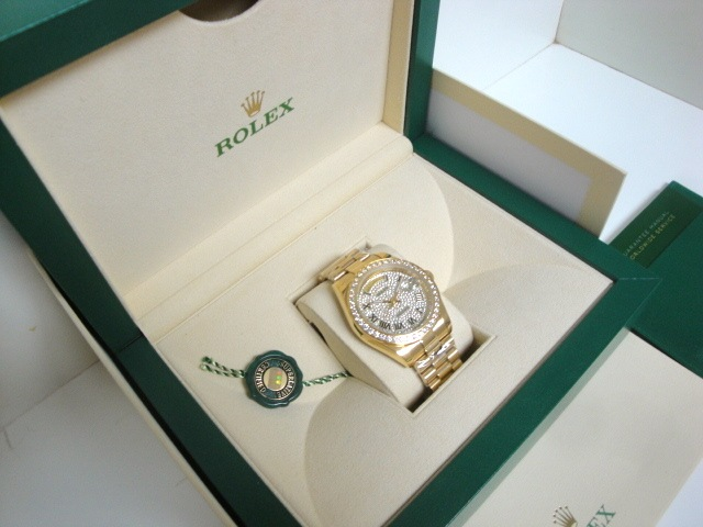 rolex replica day-date SARU brillantine yellow gold orologio replica