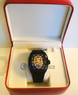 richard mille replica skull nano ceramic pvd pro-hunter skeletron strip rubber-b